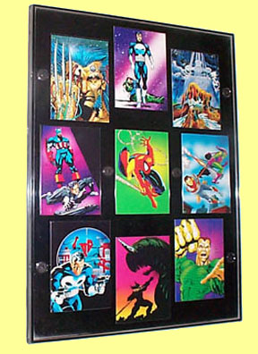 Modern wonderview frame with various cards.